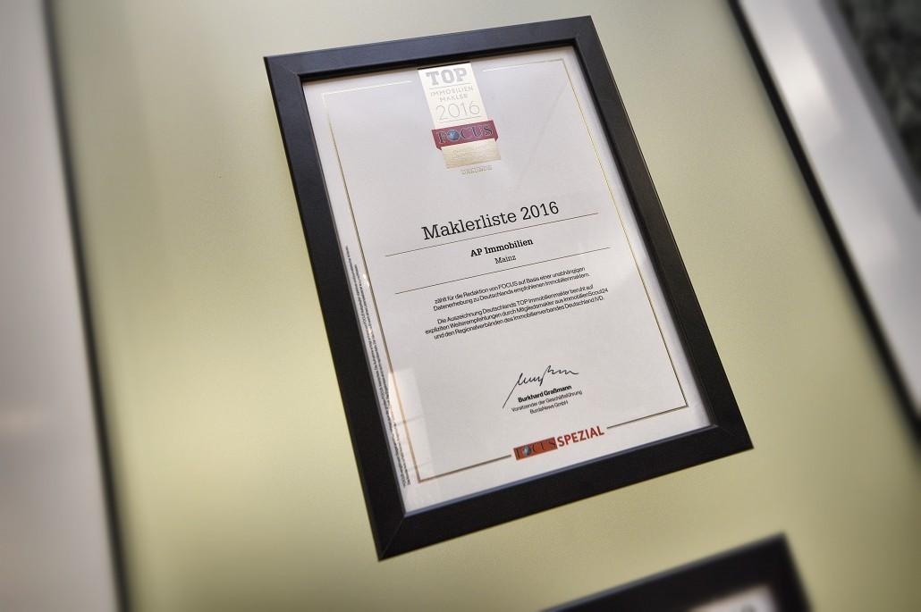 AP Immobilien GmbH - Ihr IVD Immobilienmakler aus Mainz - Focus Immobilien Atlas - Top Immobilienmakler 2016