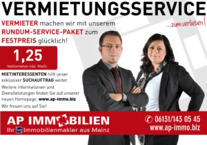 AP Immobilien GmbH - Ihr IVD Immobilienmakler aus Mainz - Vermietungsservice