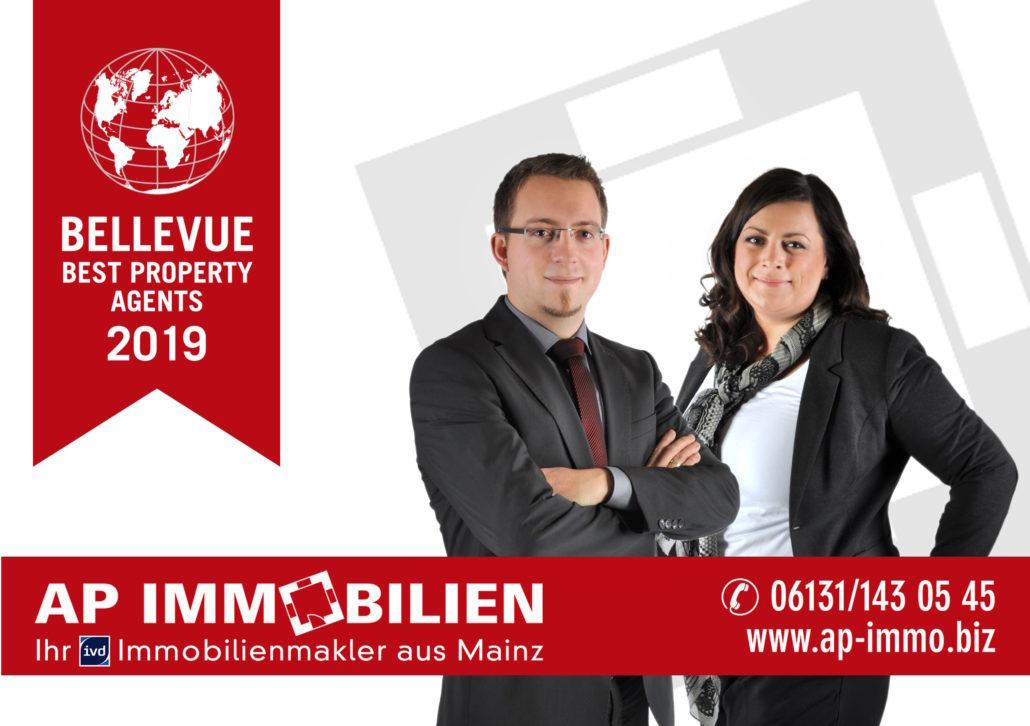 AP Immobilien GmbH - Ihr IVD Immobilienmakler aus Mainz - Immobilienvermietung - Immobilienverkauf - Auszeichnung - BELLEVUE BEST PROPERTY AGENT (BPA) 2019